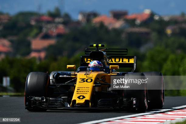 Jolyon Palmer of Great Britain driving the Renault Sport Formula One Team Renault RS17 on track during the Formula One Grand Prix of Hungary at...