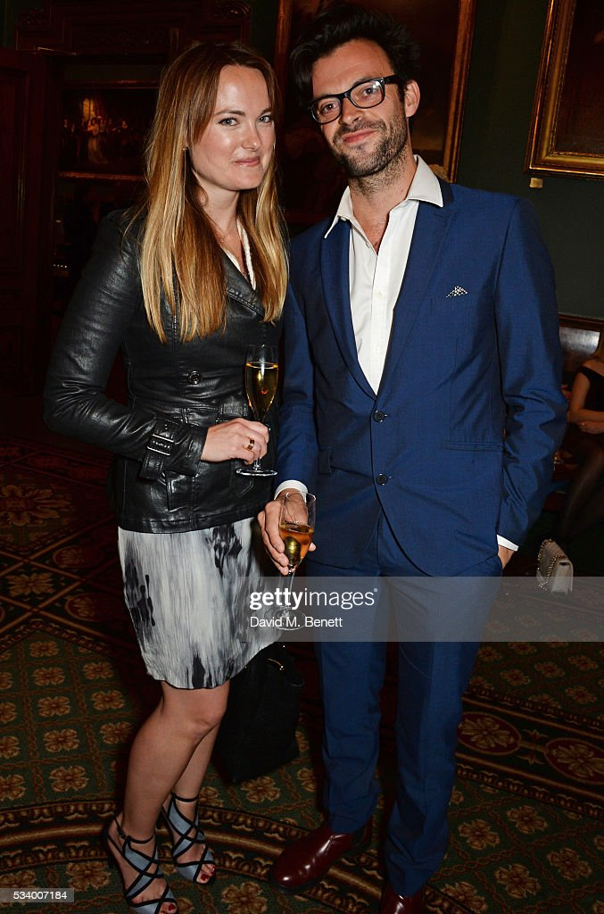 Jolyon Rubinstein (R) attends the press night after party for 'A View From Islington North' at The Garrick Club on May 24, 2016 in London, England.