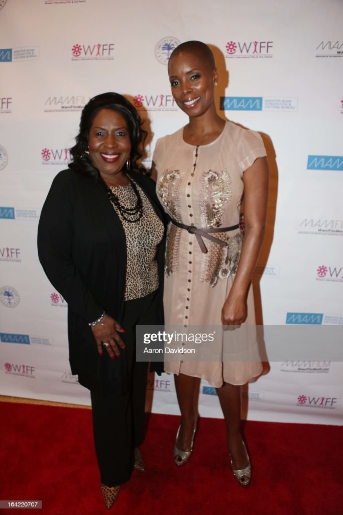 JoMarie Payton and Sidra Smith attends opening night screening of 'Free Angela' during the 2013 Women's International Film and Arts Festival>> at Adrienne Arsht Center on March 20, 2013 in Miami, Florida.