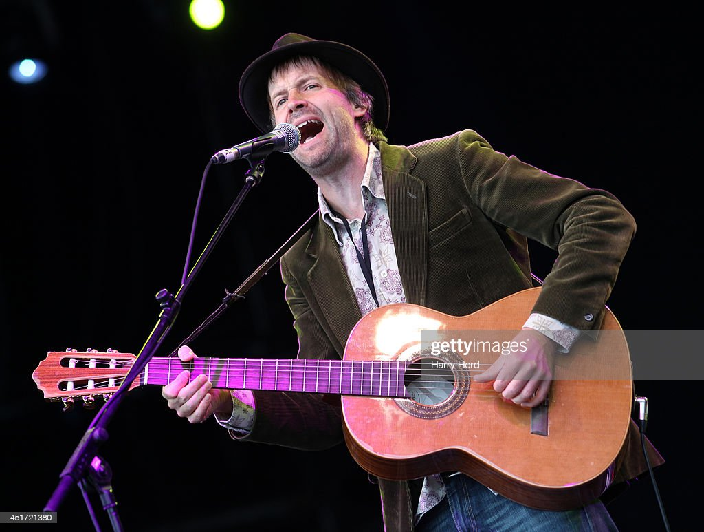 Jon Allen performs on stage at Cornbury Music Festival at Great Tew Estate on July 5, 2014 in Oxford, United Kingdom.
