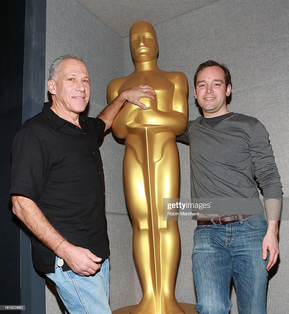 Jon Alpert (L) and Matthew O'Neill attend Oscar Celebrates: Documentary Short Subjects at the Academy Theater at Lighthouse International on February 17, 2013 in New York City.