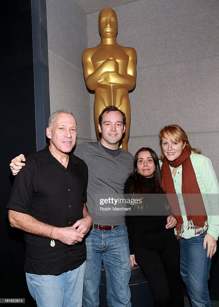 Jon Alpert, Matthew O'Neill, Rachel Delmolfetto and Robin Honan attend Oscar Celebrates: Documentary Short Subjects at the Academy Theater at Lighthouse International on February 17, 2013 in New York City.