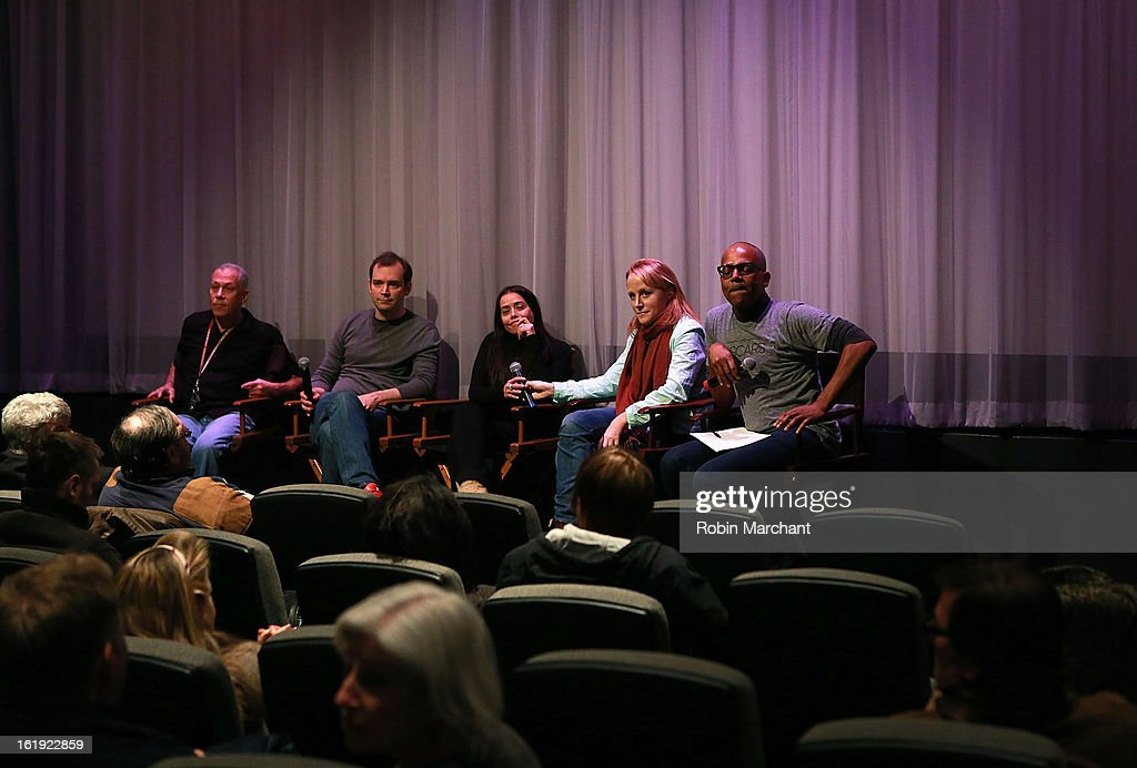 Jon Alpert, Matthew O'Neill, Rachel Delmolfetto, Robin Honan and Patrick Harrison attend Oscar Celebrates: Documentary Short Subjects at the Academy Theater at Lighthouse International on February 17, 2013 in New York City.
