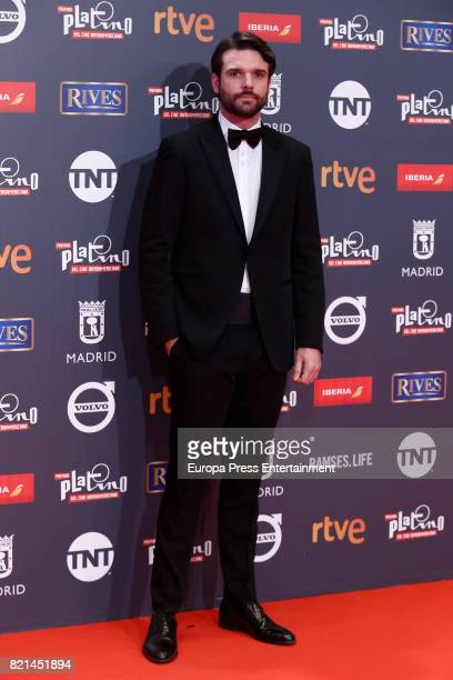 Jon Arias attends Platino Awards 2017 at La Caja Magica on July 22 2017 in Madrid Spain