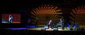 Jon Batiste and Stay Human perform during the 2014 Marian Anderson Award Gala honoring Jon Bon Jovi at Kimmel Center for the Performing Arts on...