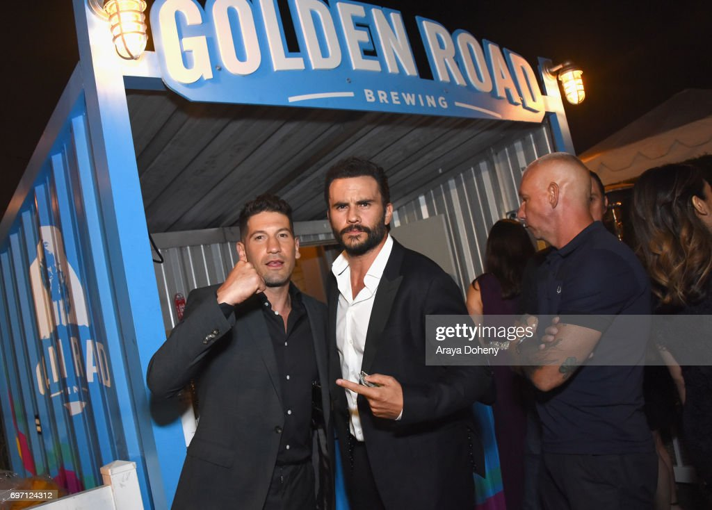 Jon Bernthal and Juan Pablo Raba attend the 'Shot Caller' Gala After Party during the 2017 Los Angeles Film Festival on June 17, 2017 in Culver City, California.