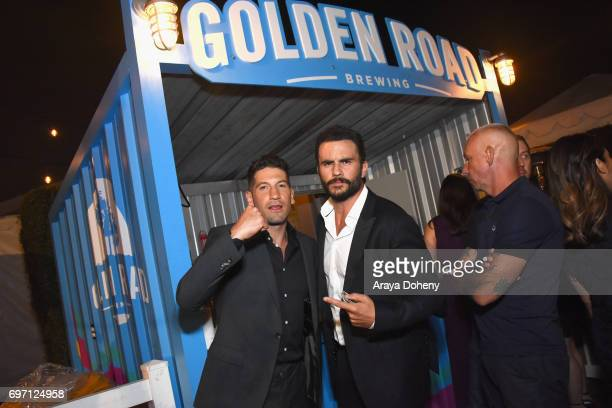 Jon Bernthal and Juan Pablo Raba attend the 'Shot Caller' Gala After Party during the 2017 Los Angeles Film Festival on June 17 2017 in Culver City...