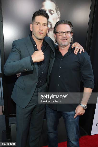 Jon Bernthal and Ric Roman Waugh attend the ATT And Saban Films Present The LAFF Gala Premiere Of Shot Caller at ArcLight Cinemas on June 17 2017 in...