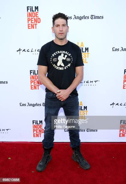 Jon Bernthal attends the screening of 'Mankiller' during the 2017 Los Angeles Film Festival at Arclight Cinemas Culver City on June 19 2017 in Culver...