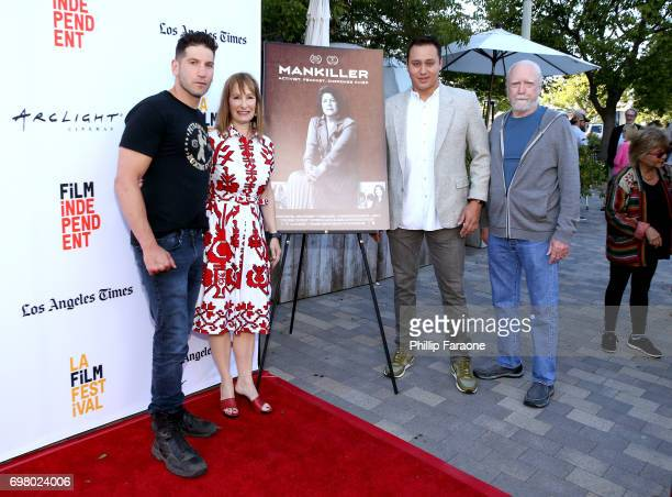 Jon Bernthal Gale Anne Hurd Ben Pease and Scott Wilson attend the screening of 'Mankiller' during the 2017 Los Angeles Film Festival at Arclight...