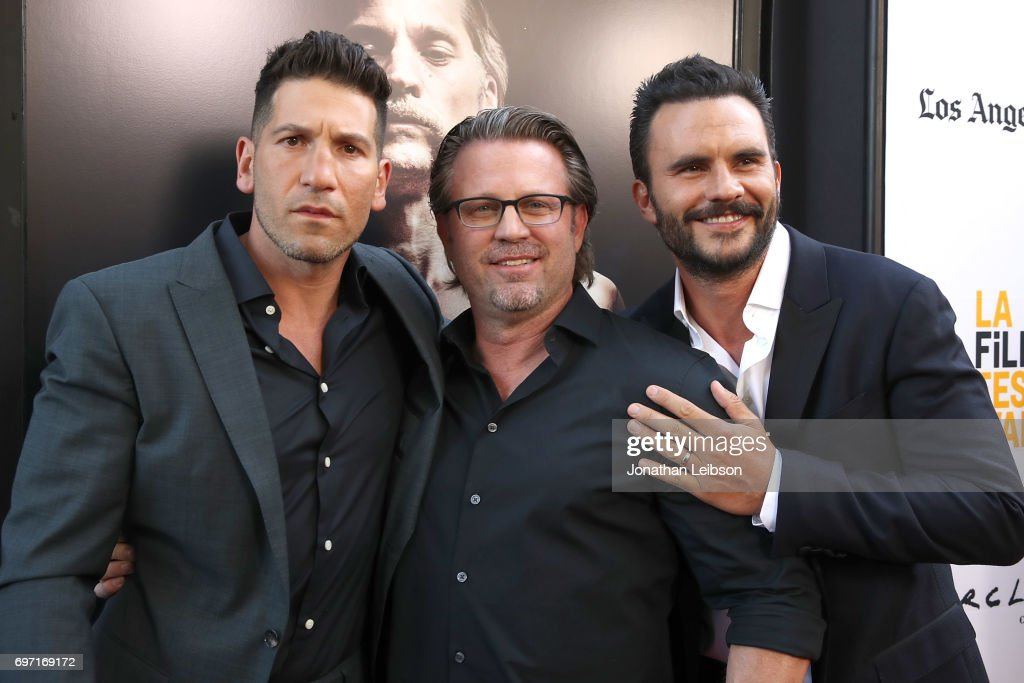 Jon Bernthal, Ric Roman Waugh and Juan Pablo Raba attend the AT&T And Saban Films Present The LAFF Gala Premiere Of Shot Caller at ArcLight Cinemas on June 17, 2017 in Culver City, California.