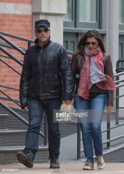 Jon Bon Jovi and Dorothea Hurley are seen on April 30 2017 in New York City