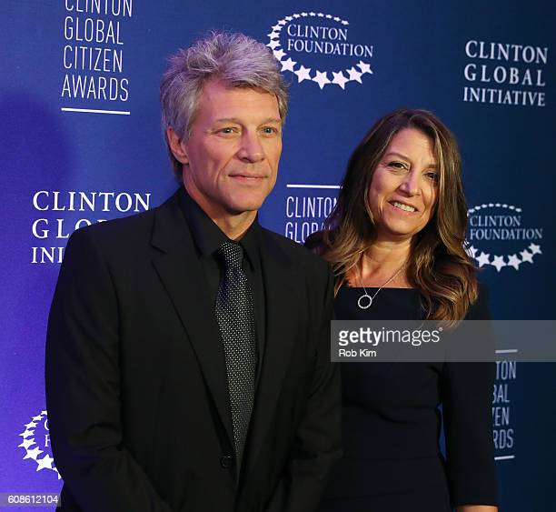 Jon Bon Jovi and Dorothea Hurley attend the 10th Annual Clinton Global Citizen Awards at Sheraton New York Times Square on September 19 2016 in New...