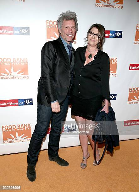 Jon Bon Jovi and Dorothea Hurley attend the 2016 Food Bank For New York CanDo Awards Dinner at Cipriani Wall Street on April 20 2016 in New York City