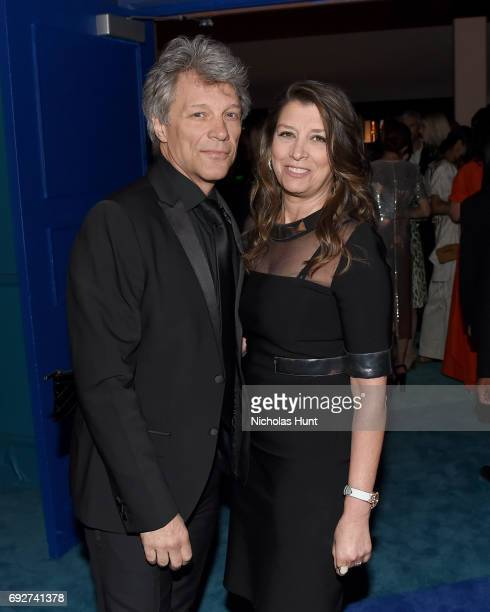Jon Bon Jovi and Dorothea Hurley attend the 2017 CFDA Fashion Awards Cocktail Hour at Hammerstein Ballroom on June 5 2017 in New York City