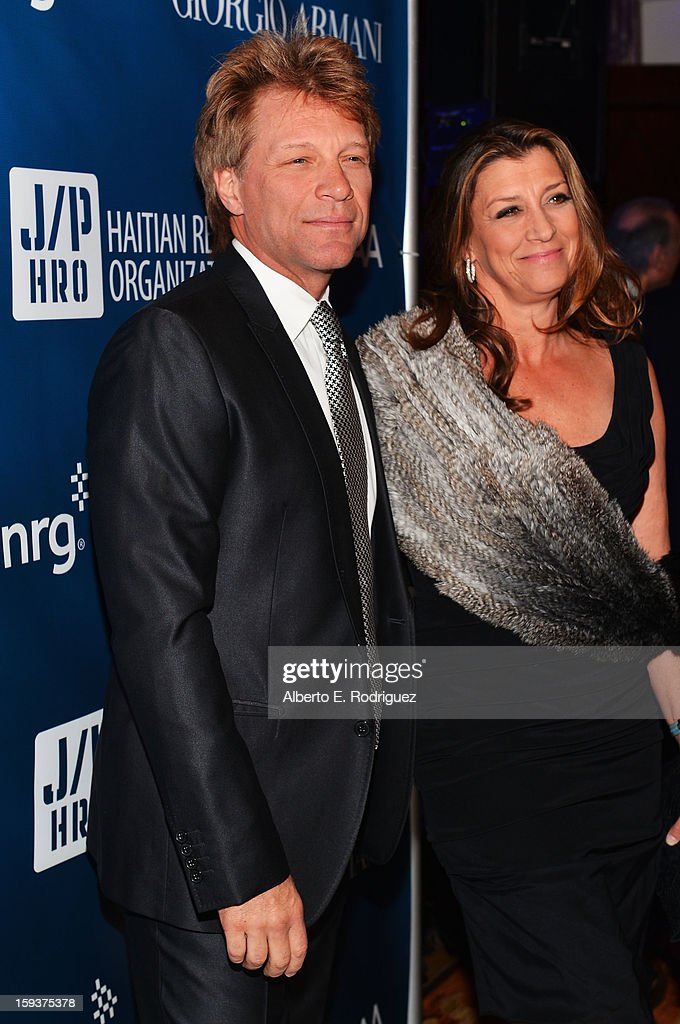Jon Bon Jovi and Dorothea Hurley attend the 2nd Annual Sean Penn and Friends Help Haiti Home Gala benefiting J/P HRO presented by Giorgio Armani at Montage Hotel on January 12, 2013 in Los Angeles, California.