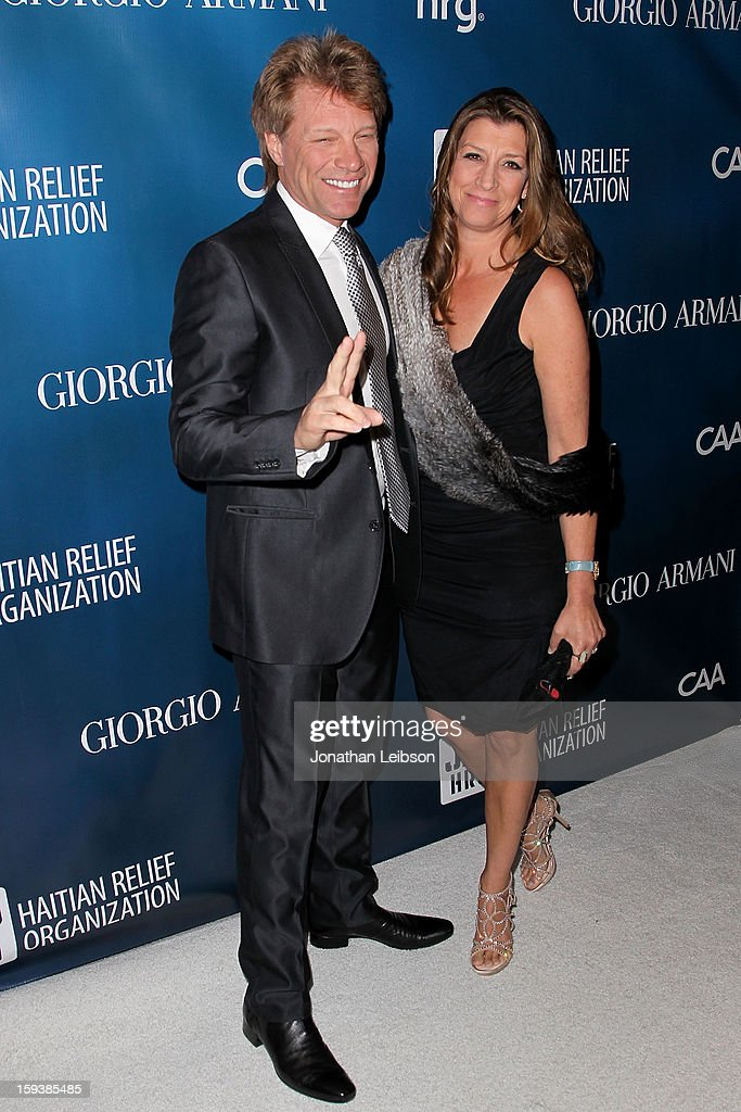 Jon Bon Jovi and Dorothea Hurley attend the 2nd Annual Sean Penn & Friends Help Haiti Home Presented By Giorgio Armani - A Gala To Benefit J/P HRO - Arrivals at Montage Beverly Hills on January 12, 2013 in Beverly Hills, California.