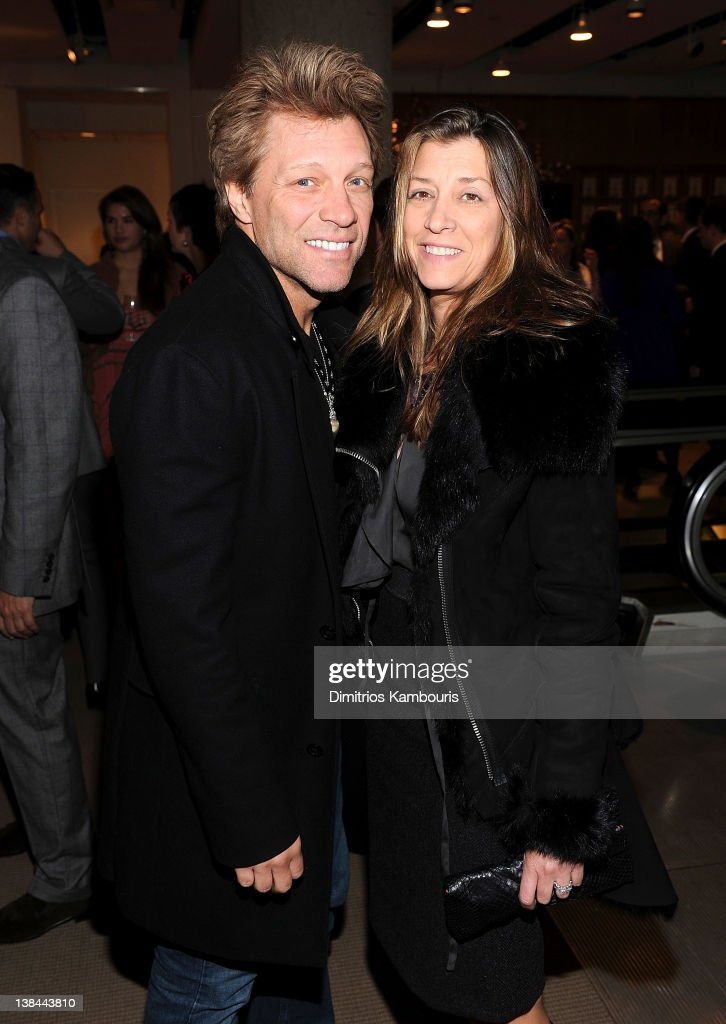 <a gi-track='captionPersonalityLinkClicked' href=/galleries/search?phrase=Jon+Bon+Jovi&family=editorial&specificpeople=201527 ng-click='$event.stopPropagation()'>Jon Bon Jovi</a> and Dorothea Hurley attend the book launch party for Ali Wentworth's new book 'Ali In Wonderland' at Sotheby's on February 6, 2012 in New York City.