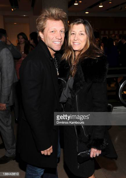 Jon Bon Jovi and Dorothea Hurley attend the book launch party for Ali Wentworth's new book 'Ali In Wonderland' at Sotheby's on February 6 2012 in New...