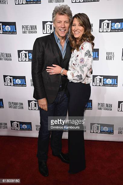 Jon Bon Jovi and Dorothea Hurley attend the Jon Bon Jovi Soul Foundation's 10 year anniversary at the Garage on October 6 2016 in New York City