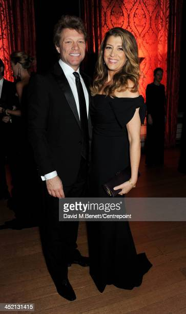 Jon Bon Jovi and Dorothea Hurley attend the Winter Whites Gala in aid of Centrepoint at Kensington Palace on November 26 2013 in London England