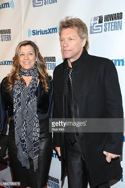 Jon Bon Jovi and guest attend SiriusXM's 'Howard Stern Birthday Bash' at Hammerstein Ballroom on January 31 2014 in New York City