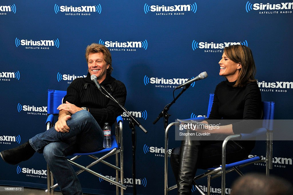 <a gi-track='captionPersonalityLinkClicked' href=/galleries/search?phrase=Jon+Bon+Jovi&family=editorial&specificpeople=201527 ng-click='$event.stopPropagation()'>Jon Bon Jovi</a> and <a gi-track='captionPersonalityLinkClicked' href=/galleries/search?phrase=Savannah+Guthrie&family=editorial&specificpeople=653313 ng-click='$event.stopPropagation()'>Savannah Guthrie</a> attend 'SiriusXM's Town Hall with <a gi-track='captionPersonalityLinkClicked' href=/galleries/search?phrase=Jon+Bon+Jovi&family=editorial&specificpeople=201527 ng-click='$event.stopPropagation()'>Jon Bon Jovi</a>' and moderator <a gi-track='captionPersonalityLinkClicked' href=/galleries/search?phrase=Savannah+Guthrie&family=editorial&specificpeople=653313 ng-click='$event.stopPropagation()'>Savannah Guthrie</a> at the SiriusXM studios on February 4, 2013 in New York City.
