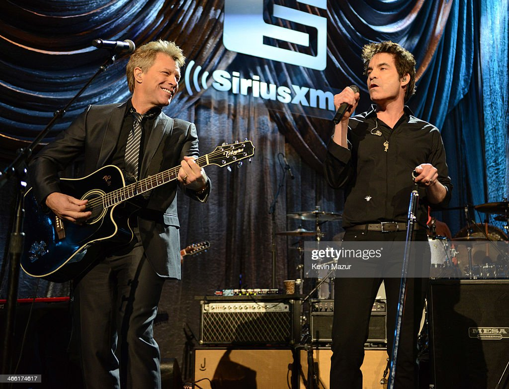 <a gi-track='captionPersonalityLinkClicked' href=/galleries/search?phrase=Jon+Bon+Jovi&family=editorial&specificpeople=201527 ng-click='$event.stopPropagation()'>Jon Bon Jovi</a> and Train perform at 'Howard Stern's Birthday Bash' presented by SiriusXM, produced by Howard Stern Productions at Hammerstein Ballroom on January 31, 2014 in New York City.
