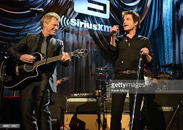 Jon Bon Jovi and Train perform onstage at 'Howard Stern's Birthday Bash' presented by SiriusXM produced by Howard Stern Productions at Hammerstein...
