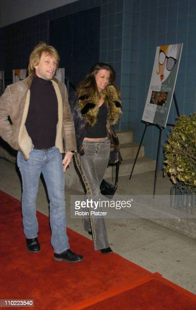 Jon Bon Jovi and wife Dorothea during 'Melinda and Melinda' New York City Premiere at Chelsea West Cinemas in New York City New York United States