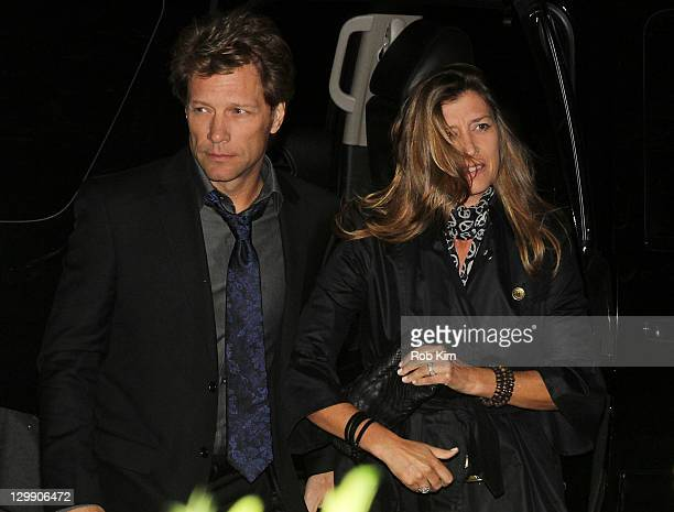 Jon Bon Jovi and wife Dorothea Hurley attend Paul McCartney's Nancy Shevell's party at The Bowery Hotel on October 21 2011 in New York City