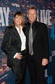 Jon Bon Jovi and wife Dorothea Hurley attend the SNL 40th Anniversary Celebration at Rockefeller Plaza on February 15 2015 in New York City