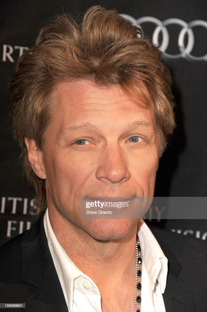 Jon Bon Jovi arrives at the BAFTA Los Angeles 2013 Awards Season Tea Party at Four Seasons Hotel Los Angeles at Beverly Hills on January 12, 2013 in Beverly Hills, California.