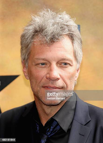 Jon Bon Jovi attends 'Hamilton' Broadway Opening Night at Richard Rodgers Theatre on August 6 2015 in New York City