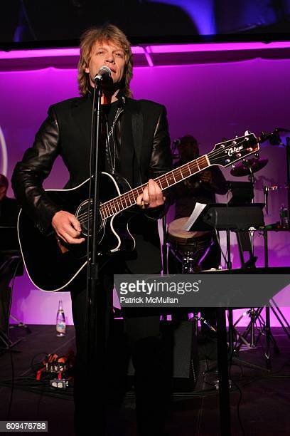 Jon Bon Jovi attends Jon Bon Jovi and Kenneth Cole Team Up For An Unforgettable Night of Fundraising At 'RSVP To Help' at Tribeca Rooftop on January...