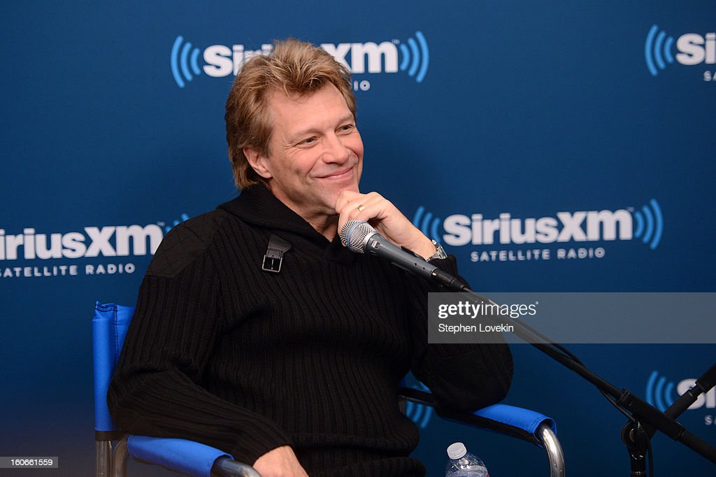 Jon Bon Jovi attends 'SiriusXM's Town Hall with Jon Bon Jovi' and moderator Savannah Guthrie at the SiriusXM studios on February 4, 2013 in New York City.