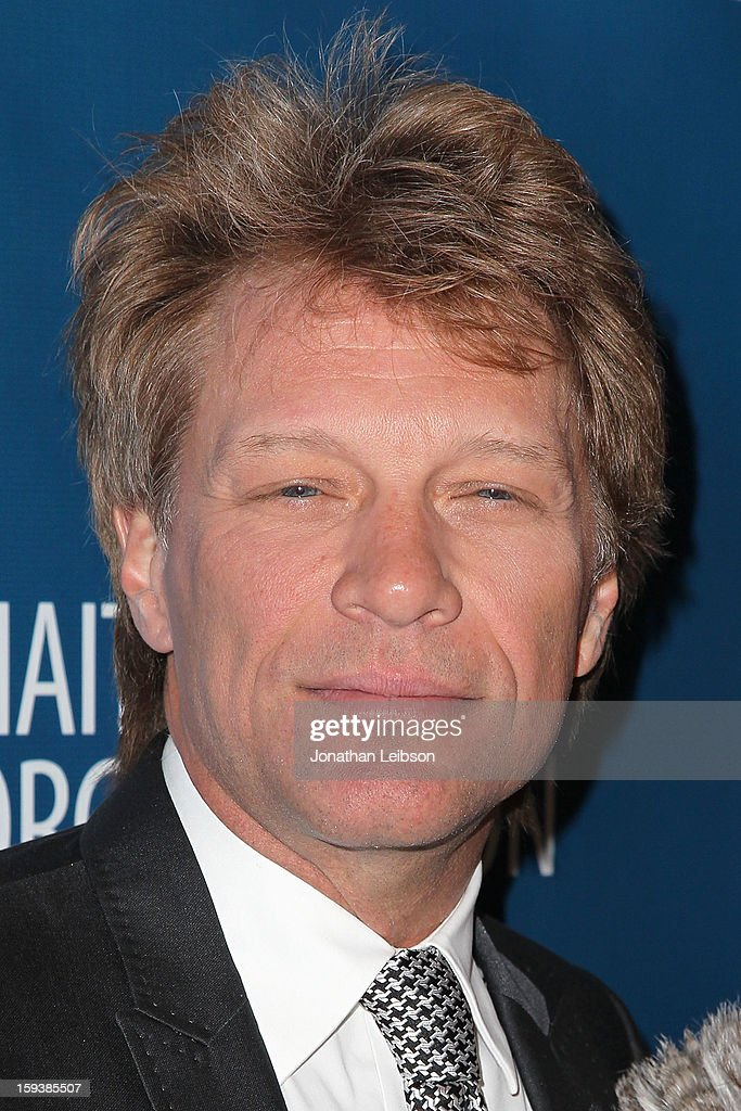 Jon Bon Jovi attends the 2nd Annual Sean Penn & Friends Help Haiti Home Presented By Giorgio Armani - A Gala To Benefit J/P HRO - Arrivals at Montage Beverly Hills on January 12, 2013 in Beverly Hills, California.