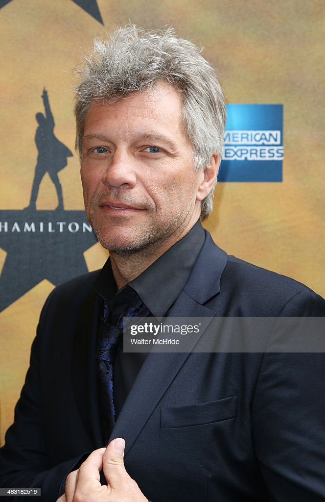 <a gi-track='captionPersonalityLinkClicked' href=/galleries/search?phrase=Jon+Bon+Jovi&family=editorial&specificpeople=201527 ng-click='$event.stopPropagation()'>Jon Bon Jovi</a> attends the Broadway opening night performance of'Hamilton' at the Richard Rodgers Theatre on August 6, 2015 in New York City.