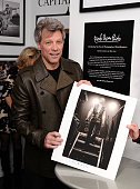 Jon Bon Jovi attends the David Bergman Exhibition Opening Curated By Jon Bon Jovi at The Soho Holiday Collective on December 16 2014 in New York City...