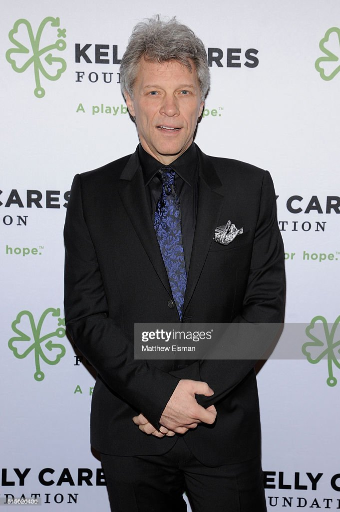 Jon Bon Jovi attends the Kelly Cares Foundation 2016 Irish Eyes Gala at The Pierre Hotel on March 14, 2016 in New York City.