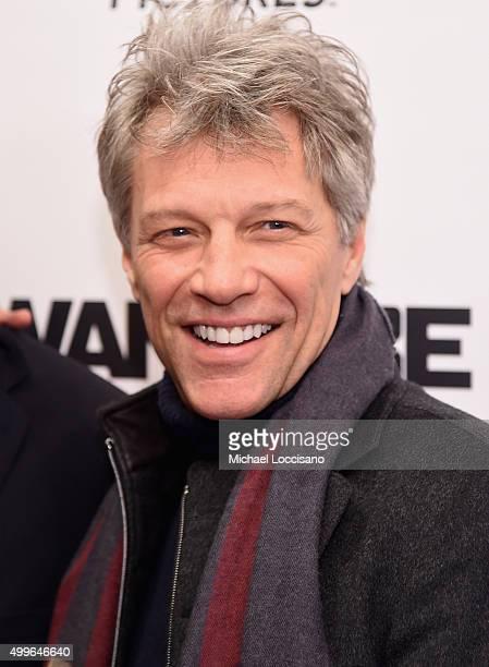 Jon Bon Jovi attends 'The Wannabe' New York premiere at Crosby Street Hotel on December 2 2015 in New York City