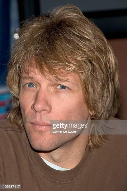 Jon Bon Jovi during Arena Football League's 20th Season Kickoff Press Conference at ESPN Zone in New York City New York United States