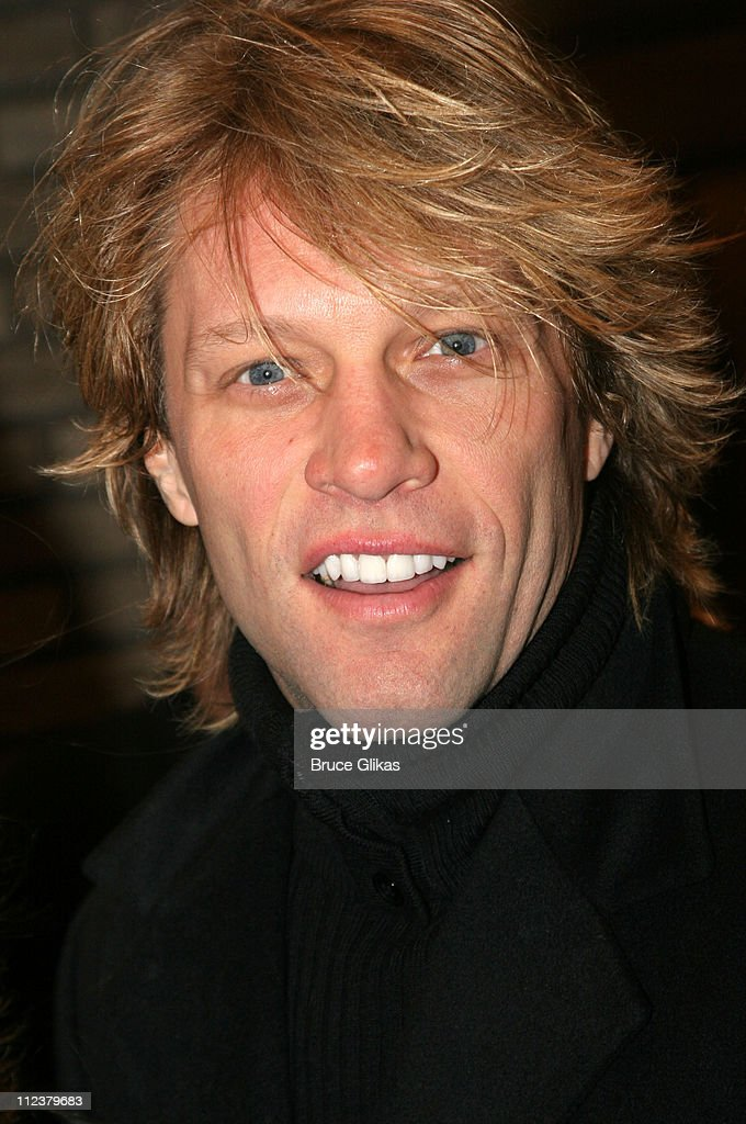 <a gi-track='captionPersonalityLinkClicked' href=/galleries/search?phrase=Jon+Bon+Jovi&family=editorial&specificpeople=201527 ng-click='$event.stopPropagation()'>Jon <a gi-track='captionPersonalityLinkClicked' href=/galleries/search?phrase=Bon+Jovi+-+Band&family=editorial&specificpeople=579991 ng-click='$event.stopPropagation()'>Bon Jovi</a></a> during Billy Crystal Makes His Broadway Debut in '700 Sundays' at The Broadhurst Theater/Tavern on the Green in New York, NY, United States.