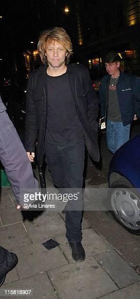 Jon Bon Jovi during Celebrity Sightings at Nobu March 07 2007 at Nobu in London Great Britain