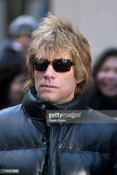 Jon Bon Jovi during Jon Bon Jovi John Elway and Chad Hedrick Appear on the 'Today' Show January 26 2006 at Today Show Studios in New York City New...