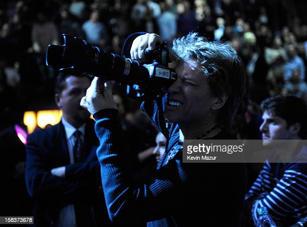 Jon Bon Jovi in the audience at '121212' a concert benefiting The Robin Hood Relief Fund to aid the victims of Hurricane Sandy presented by Clear...