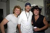 Jon Bon Jovi Jason Kidd point guard for the New Jersey Nets and Richie Sambora