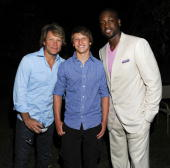 Jon Bon Jovi Jesse Bon Jovi and Dwyane Wade attend intimate dinner at Madame Tong's on August 28 2010 in Southampton New York