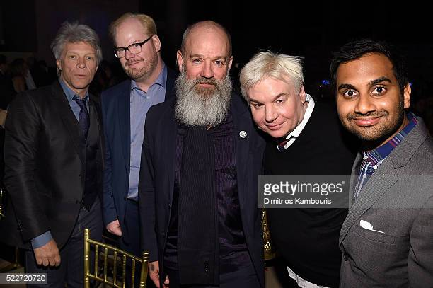 Jon Bon Jovi Jim Gaffigan Michael Stipe Mike Meyers and Aziz Ansari attend the Food Bank Of New York City's Can Do Awards 2016 hosted by Mario Batali...