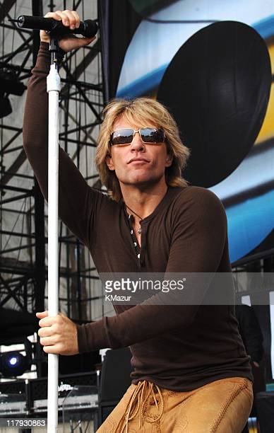 Jon Bon Jovi of Bon Jovi during LIVE 8 Philadelphia Show at Philadelphia Museum of Art in Philadelphia Pennsylvania United States